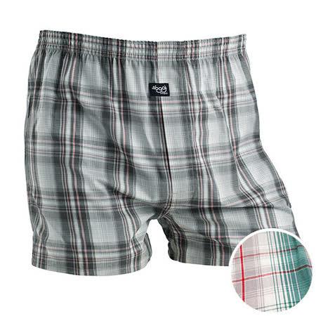 【sloggi men】寬鬆平織系列格紋平口褲 M-XL(綠)-品特匯
