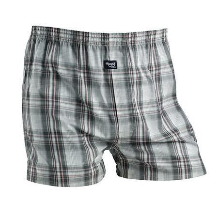 【sloggi men】寬鬆平織系列格紋平口褲 M-XL(灰)-品特匯