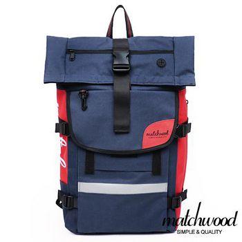 MATCHWOOD Rider 17吋筆電後背包 -藍紅