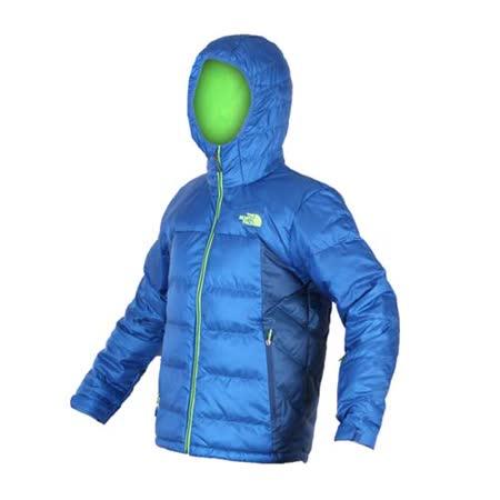 (男) THE NORTH FACE 550 FILL羽絨外套-防風 保暖  藍螢光綠