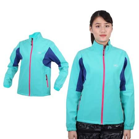 (女) MIZUNO 風衣外套 - 防風 刷毛 保暖 防潑水 立領  湖水綠桃紅