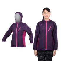 (女) MIZUNO 半長風衣外套 - 防風 刷毛 保暖  深紫桃紅