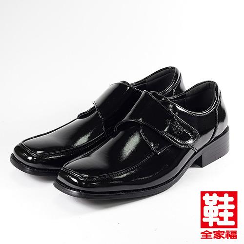 (男) SARTORI 黏帶少男紳仕鞋 黑  鞋全家福