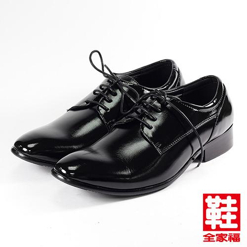 (男) SARTORI 綁帶素面少男皮鞋 黑   鞋全家福