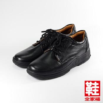 (男) SARTORI 綁帶素面學生鞋 黑   鞋全家福