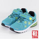 (中童) DIADORA 9962兒童氣墊慢跑鞋 藍綠 迪亞多那 鞋全家福