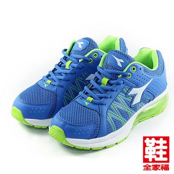 (男) DIADORA 2812_氣墊II跑鞋 藍綠 迪亞多那 鞋全家福