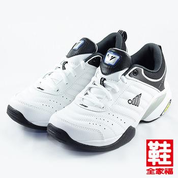 (男) JUMP 舒適耐穿運動鞋 白黑 將門 鞋全家福