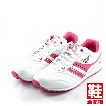 (女) JUMP MIT輕量復古慢跑鞋 白桃 將門 鞋全家福