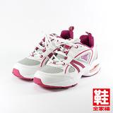 (女) JUMP 653輕量氣墊運動鞋 白桃 將門 鞋全家福