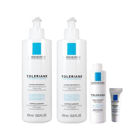 理膚寶水 多容安清潔卸妝乳液 (400ml) 兩入組+多容安舒緩保濕化妝水 50ml+多容安濕潤乳液3ml