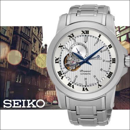 SEIKO 羅馬計時 男用機械時尚腕錶-40mm-4R39-00L0W(SSA275J1)