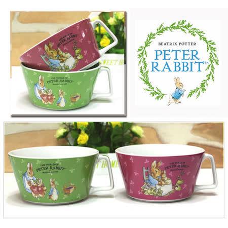 【クロワッサン科羅沙】Peter Rabbit~ 經典比得兔  把手杯碗 (粉.綠 2色可選)