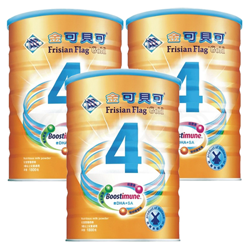 金可貝可兒童強化奶粉1800g x3罐