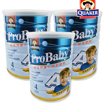 桂格 QUAKER 特選小朋友奶粉-新一代藻精蛋白配方1.5kg/罐x3入