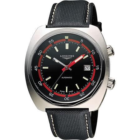 LONGINES Heritage Diver 300米潛水機械腕錶-黑/43mm L27954520