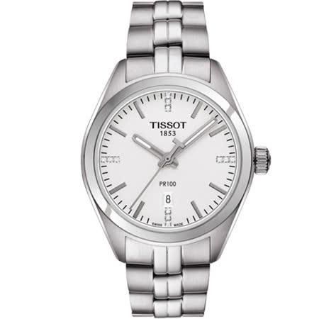 天梭 TISSOT PR-100 時尚真鑽運動女錶 T1012101103600