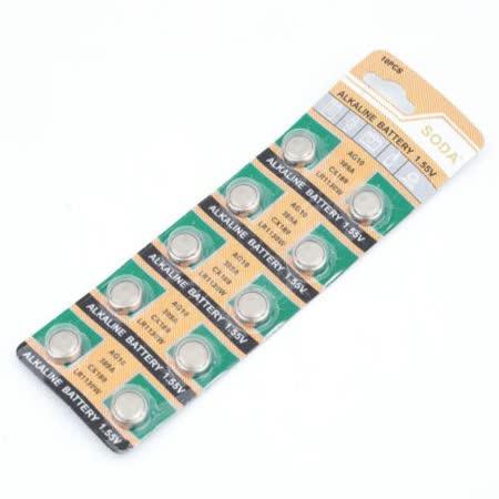 ★10顆裝★AG10 水銀電池 AG10 LR1130 SR1130 L1131 LR54 鈕扣電池 適用計算機 玩具