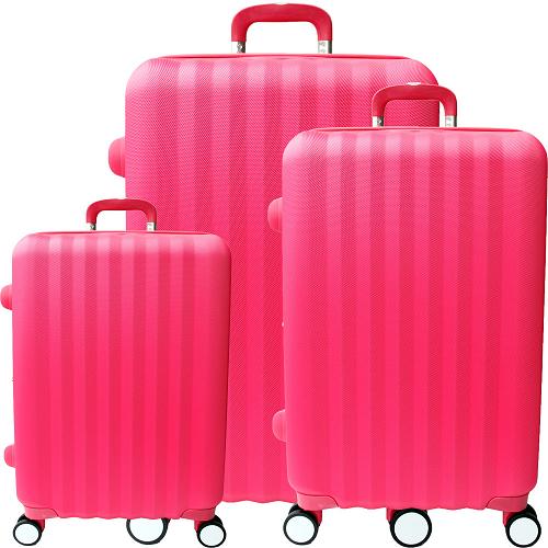 【YC遠東 寶 慶 店 Eason】尊爵頂級三件組ABS硬殼行李箱(20+24+28吋-戀愛紅)