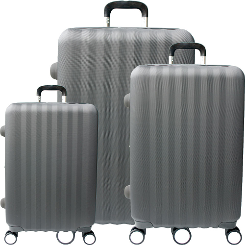 【YC Easo新竹 愛 買 營業 時間n】尊爵頂級三件組ABS硬殼行李箱(20+24+28吋-灰)
