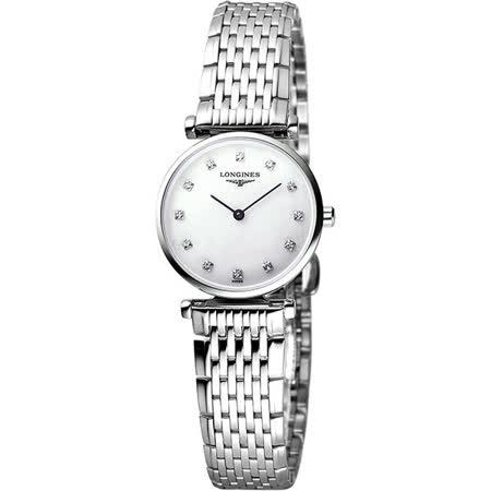 LONGINES 嘉嵐系列限量鑽錶-鑽面/24mm L42094876