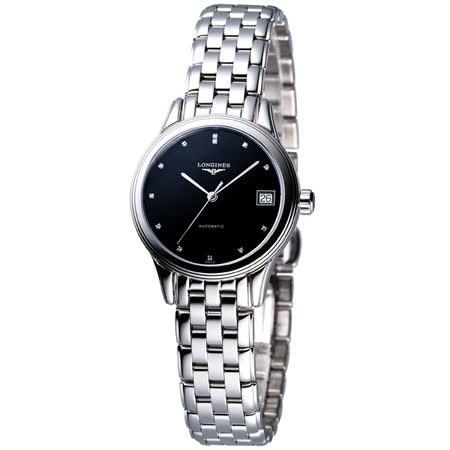 LONGINES 旗艦系列真鑽機械錶女錶-黑 L42744576