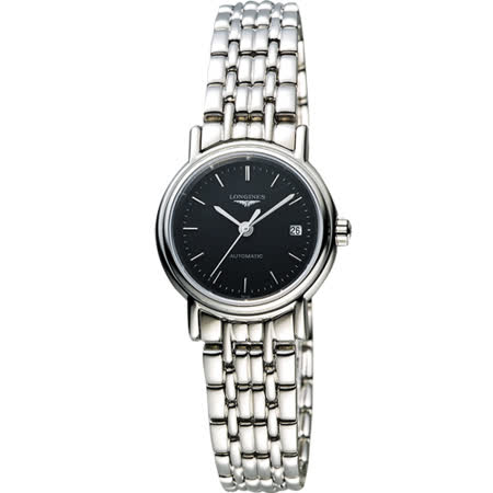LONGINES Presence 經典優雅機械女錶-黑/25mm L43214526