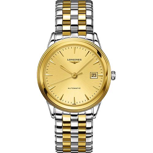 LONGINES FLAGSHIP 雅緻旗艦機械腕錶~金x雙色版38.5mm L48743
