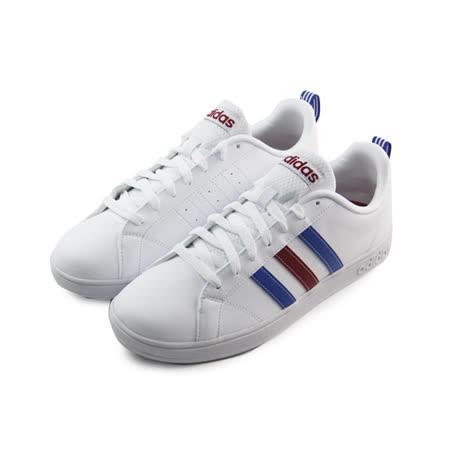 (男)ADIDAS ADVANTAGE VS 休閒鞋 白/藍/紅-F76594