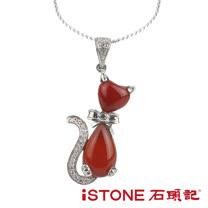 石頭記 貓咪物語紅瑪瑙項鍊