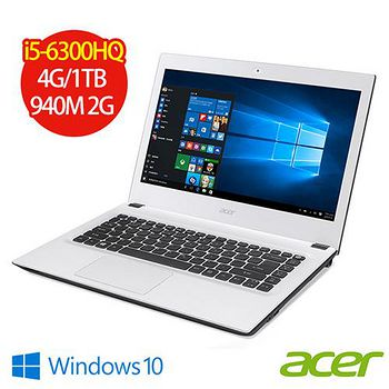 ACER E5-491G-5424(I5-6300H/4G/1TB/NV 940 2G/DVD/14 筆記型電腦