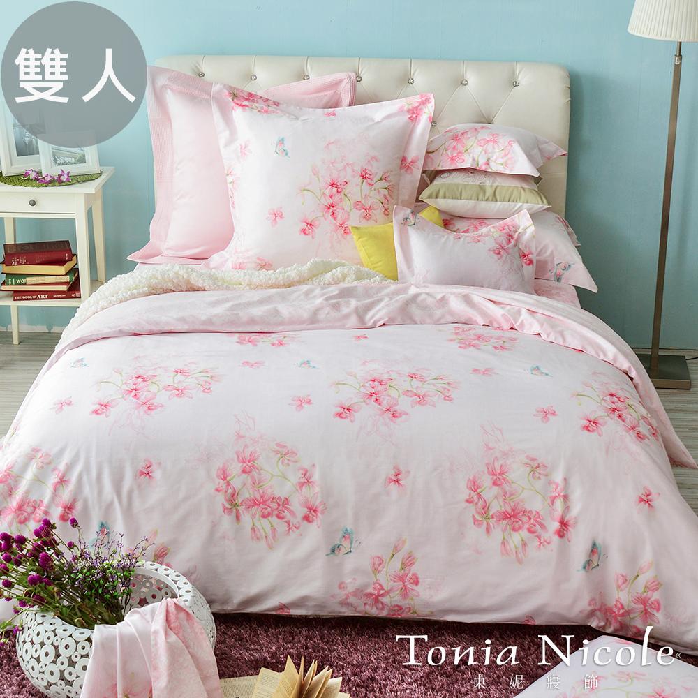 Tonia Nicole東妮寢飾莎莉絲特環保印染精梳棉兩用被床包組^(雙人^)