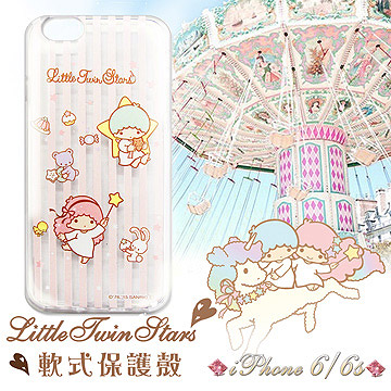 三麗鷗  雙子星仙子KiKiLaLa iPhone 66s 4.7吋 i6s 透明軟式保護