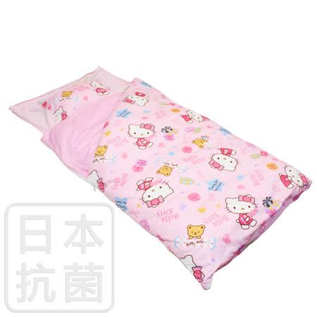 【鴻宇HongYew】美國棉/精梳棉/台灣製/兒童抗菌寢具/兩用睡袋/Hello Kitty/我的甜蜜夥伴系列(粉)