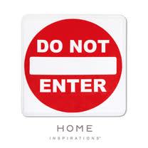 【Home】趣味記憶綿浴墊 - 請勿進入(Do Not Enter)