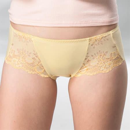 【華歌爾】典雅迷人M-LL中低腰平口褲(曙光黃)