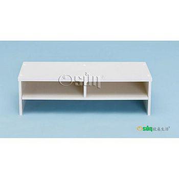 Osun DIY木塑板置物架歐式白色經典款電腦墊高桌 DY52