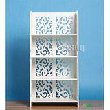 Osun DIY木塑板白色雕花四層 8040
