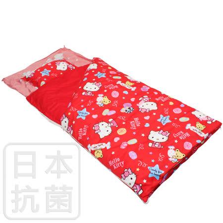 【鴻宇HongYew】美國棉/精梳棉/台灣製/兒童抗菌寢具/兩用睡袋/Hello Kitty/我的甜蜜夥伴系列(紅)