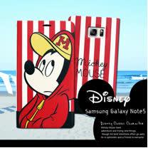 迪士尼授權正版 Samsung Galaxy Note5 N9208  潮流條紋磁力皮套(帽T米奇)