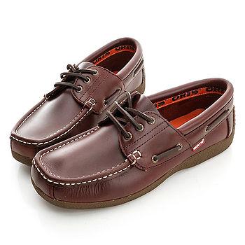 【ORIS】(男) (皮)休閒鞋-紅咖-988A03