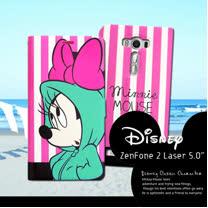 迪士尼授權正版 ASUS ZenFone 2 Laser 5吋 ZE500KL   潮流條紋磁力皮套(帽T米妮)