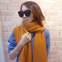 【Lus.G】韓版素面細針織鬚邊大圍巾-共3色