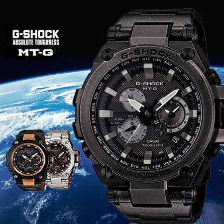 G-SHOCK MT-G系列全金屬飛行錶款限定/仿舊黑-58.6mm/MTG-S1000V-1A