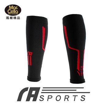 瑪榭 運動壓縮小腿套(單入)-紅(M~L)
