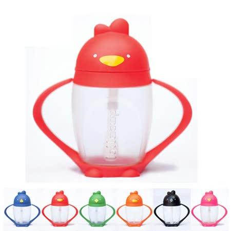 【BabyTiger虎兒寶】Lollacup 美國熱銷小雞杯 - 兒童吸管水杯 -綠油雞 (綠色)