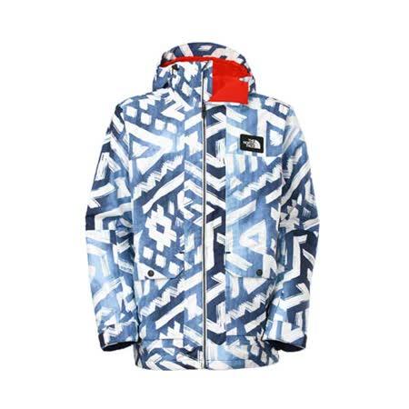 (男) THE NORTH FACE HV外套- 防水外套 保暖 HYVENT 白藍