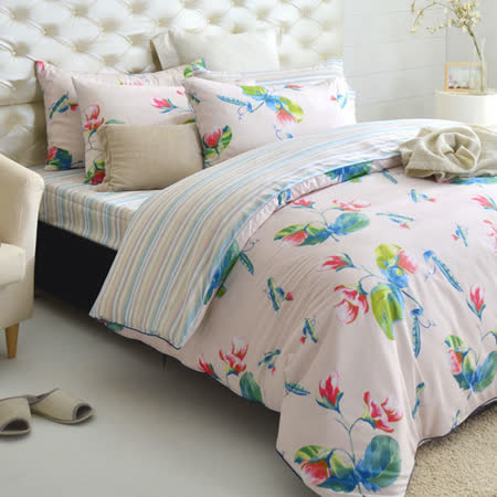 MONTAGUT-豌豆公主的美夢-純棉-加大四件式兩用被床包組