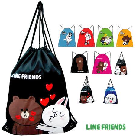 (買一送一)【LINE FRIENDS】MIT束口後背袋(共9款)