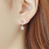 【PS Mall】韓版冰雪花鑲鑽性感百搭後掛造型耳環 (G1828)